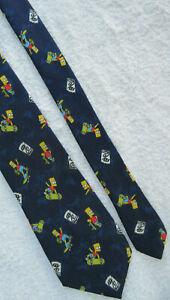 BART SIMPSON 3 INCH polyester tie NECKTIE by MARKS & SPENCER