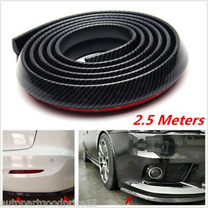2.5m Carbon Fiber Car Front Bumper Spoiler Lip Splitter Chin Body Kit Protector