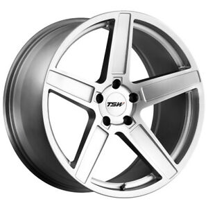 "TSW Ascent 17x8 5x108 +40mm Titanium Silver Wheel Rim 17"" Inch"
