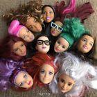 Random 3pcs Mattel Barbie Styling Makeup Head Multi Colored Hair sdus gift