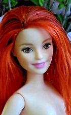2016 Barbie Fashionistas PETITE Doll Long Red Hair Freckles Nude for OOAK