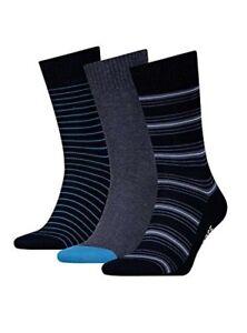 Levi's Men's 168sf Regular Cut Giftbox 3p Calf Socks pack of 3(Ombre Blue)