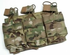 ATS Tactical Gear Slimline M4 Triple Shingle Pouch MultiCam MOLLE 5.56