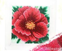 Blume Perlenstickpackung Stickpackung Stickbild Bild sticken mit Perlen 433