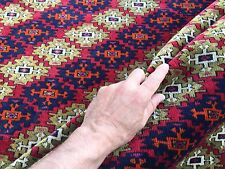 Fine Antique Turkmen Rug Wool Oriental Hand Made Rug 245x162cm Persian Vintage