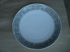 "Premiere Brindisi 12"" Round Serving Platter Japan  Black and White"