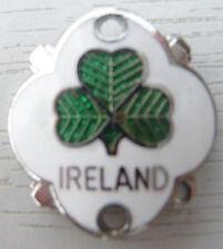 WALKING STICK BADGE WITH PINS - IRELAND - BRASS CHROMIUM PLATED - BRAND NEW