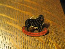 Newfoundland Dog Black Shaggy Canine Owner Lover Collector Lapel Hat Lapel Pin