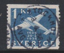 Sweden - 1936, 1k Seaplane, Swedish Post stamp - Used - SG 199
