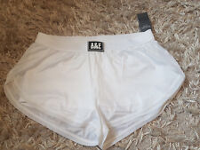 New Women's Abercrombie & Fitch Active Shorts Size M  UK 12-14 White RRP £30