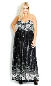 City chic knot front maxi dress size S approx 16 NWT cocktail evening party