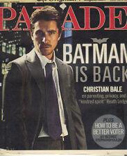 CHRISTIAN BALE BATMAN Parade Magazine 6/29/08 JANE KRAKOWSKI