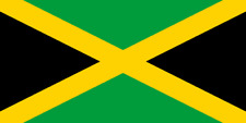 Large Jamaica Jamaican National Flag 5ft x 3ft eyelets Caribbean Fans Supporters