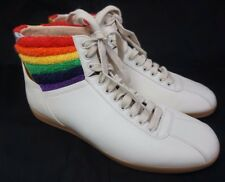 Gucci Bambi White Rainbow Terry High Top Men's Sneakers Shoes Size 8 G/ 9 US
