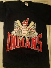 vintage 1988 MLB  Cleveland Indians Chief Wahoo classic t shirt small
