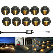 10Pcs LED Deck Step Stair Light Garden Outdoor Landscape Yard  Pathway Lamp Kit