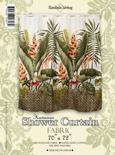 Monster Leaf Banana Hawaiian Quilt Print Bathroom Fabric Shower Curtain