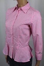 Ralph Lauren Pink White Checkered Blouse Shirt NWT