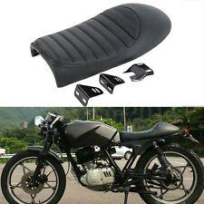 Universal Black Hump Cafe Racer Seat Saddle For Honda Suzuki Yamaha SR400 XS650