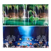 Blue Fresh Sea Background Aquarium Ocean Landscape Poster Fish Tank Backgro E5N5