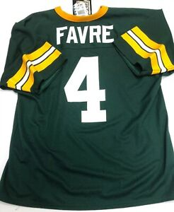 NWT VTG Authentic Logo 7 Brett Favre Green Bay Packers Mens Jersey Size Large