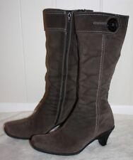 "La Canadienne 15"" Brown / Gray Ladies High Boots 18254 Sz. 8M"