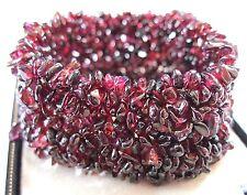 Superb Heavy VINTAGE Natural Bohemian Red GARNET Stone BEAD BRACELET 78.33g