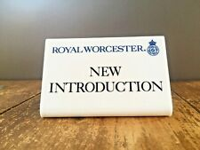 RARE ROYAL WORCESTER ADVERTISING POINT OF SALE DISPLAY PLAQUE SHOP ANTIQUES FAIR