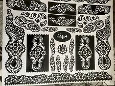 New Henna Stencil Mehndi Templates Easy To Use Design Indian Style Body Art Eid