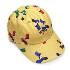 03f84bde70e NWT Noah NY Men s Tan Beige Duck Boot Print Core Logo Dad Hat Cap FW17  AUTHENTIC