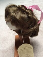 "WEE 3 VINTAGE  LT BROWN 14-15 "" LINDA"" BANGS FRAME FACE  with PULLED BACK CURLS"