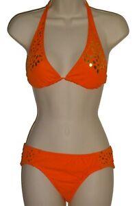 Bikini Lab orange halter bikini size M swimsuit new