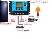 Kit Placa Panel Solar 100w ALEMANIA + INVERSOR 1000w+ REGULADOR 30A + CABLES +MC