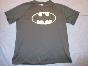 Men's Loose Fit Shirt by UNDER ARMOUR - Sz Large - Black w/ Yellow BATMAN Logo