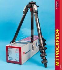 Manfrotto MT 190CXPRO4 Carbon Fiber Tripod Holds 15.4 lb (7kg) Mfr # MT190CXPRO4