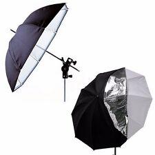 33''Double Layers White Black Reflective Translucent Photography Studio Umbrella