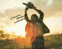 Texas Chainsaw Massacre, Leather signed 8X10 print photo poster autograph RP