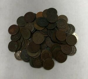100 Indian Head Pennies Mixed Lot