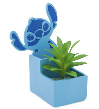 More details for disney store stitch pen and pencil holder with artificial potted faux plant