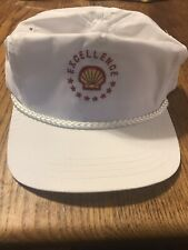 Older Vintage Shell Oil Gas White Ball Cap Hat Free Shipping