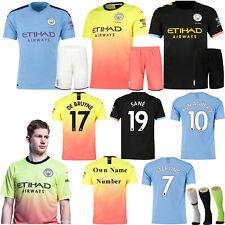 19/20 Home Away kids Youth Adult Football Kit Short Shirt Soccer Jersey+Socks AU