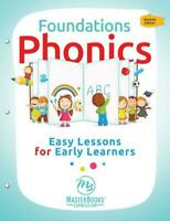 New FOUNDATIONS PHONICS Easy Lessons for Early Learners Master Books Homeschool