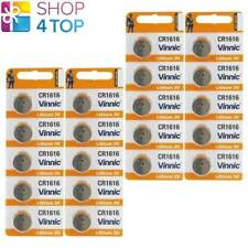 20 VINNIC CR1616 280-209 LITHIUM BATTERIES 3V CELL COIN BUTTON EXP 2022 NEW