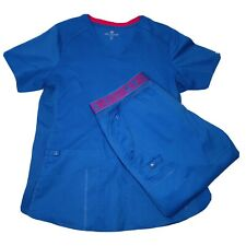 Med Couture Scrubs Set Of Top And Pants Women's Blue Size Medium