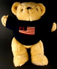 Polo Ralph Lauren 1996 Stuffed Teddy Bear USA Flag Sweater Collectible Plush