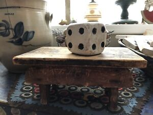 Primitive Early Antique Pine Cricket Stool