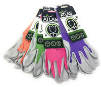 Atlas Showa 370 Pastel Nitrile Gardening Gloves | 4 Pack | Assorted Colors