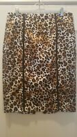 XOXO Animal Print Skirt 13/14 with double sided zipper in back NWOT