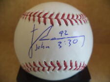 JAMES RAMSEY INDIANS/TWINS SIGNED AUTOGRAPHED M.L. BASEBALL W/COA