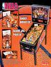 Stern NBA Original 2009 NOS Flipper Game Pinball Machine Promo Sales Flyer